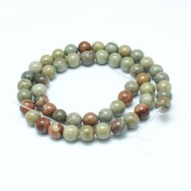 Natural Jaspio beads 4 mm., 1 strand