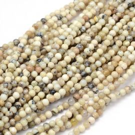 Natural African White Opal Beads 4 mm., 1 strand