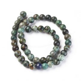 Natural African Turquoise Beads 8 mm., 1 strand