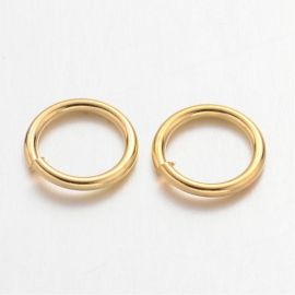 Open single jump rings 8x1 mm. 20 pcs, 1 bag