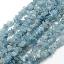 Natural Aquamarine chips 8-5x8-5 mm., 1 strand