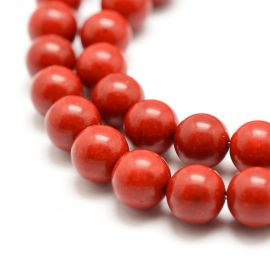 Coral imitation 8 mm., 1 strand red