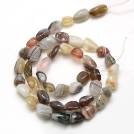 Natural Botswanos Agate beads 12-8x12x8 mm., 1 strand
