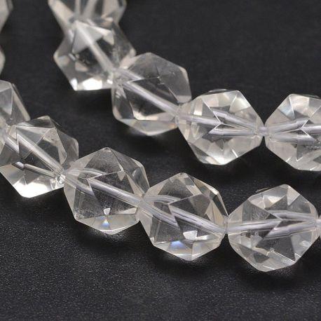 Synthetic Rhinestone Beads 10 mm. 6 pcs, 1 bag white