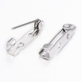 Stainless steel 304 brooch clasp 19x5x4.5 mm. 4 pcs, 1 bag