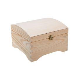 Medinė dėžutė - skrynelė su užsegimu. Natūrali medžio spalva 20x20