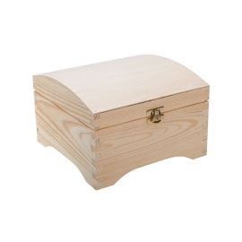 Wooden box - a box with a clasp. Natural wood color 20x20