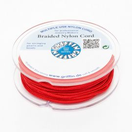 GRIFFIN nylon thread for pearls and stones worth 2.00 mm., 1 coil of red color