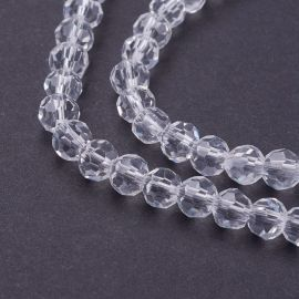 Glass beads 4 mm., 1 strand