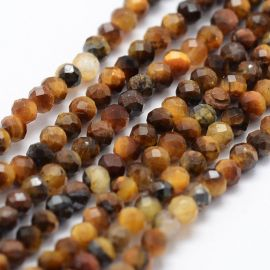Natural Beads of the Tiger Eye 2 mm., 1 strand for keys brown