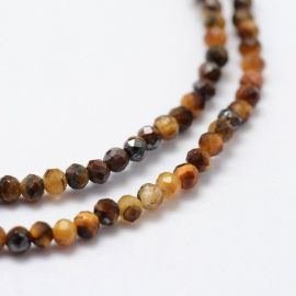 Natural Beads of the Tiger Eye 2 mm., 1 strand