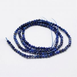 Natural Lapis Lazuli Beads 2 mm., 1 strand