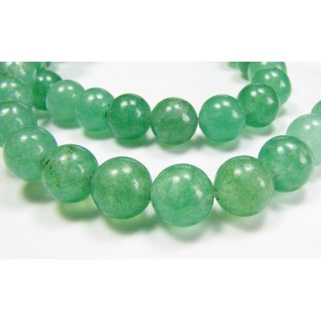 Avantiurino karoliukai šviesiai žalios spalvos, apvalios formos 8 mm
