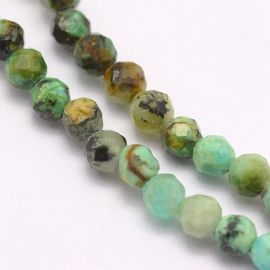 Natural African Turquoise Beads 3.5 mm., 1 strand