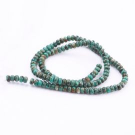 Natural African Turquoise Beads 4x2.5 mm., 1 strand