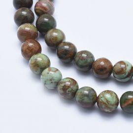 Бусины Натуральный Зеленый Опал 8 мм., 1 нитка