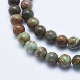 Natural Green Opal beads 8 mm., 1 strand