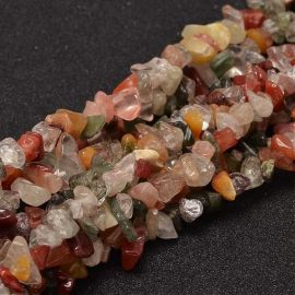 Rutilo Quartz and Pebble Chipping Mix 8x5 mm., 1 strand