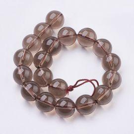Smoky Quartz beads 10 mm., 1 strand
