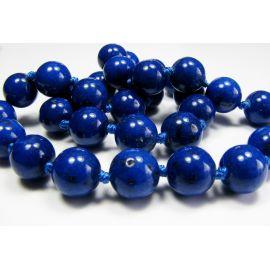 Lapis Lazuli karoliukai tamsiai mėlynos spalvos, apvalios formos 10mm
