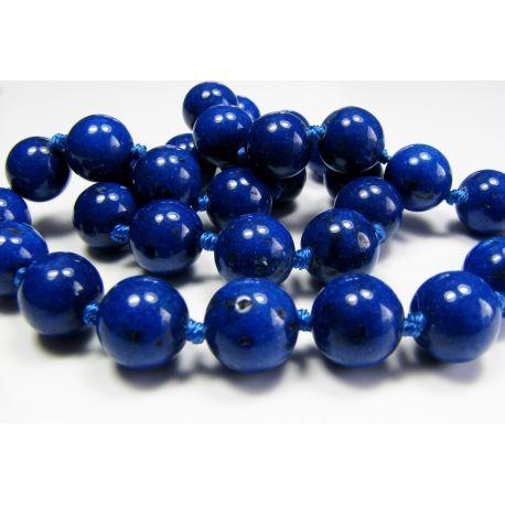 Lapis Lazuli beads dark blue, round shape 10mm