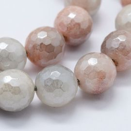 Natural Solar Stone Beads Cover Coating 7.5-8 mm., 1 strand