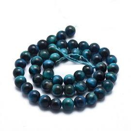 Natural Tiger Eye Beads 8.5 mm., 1 strand