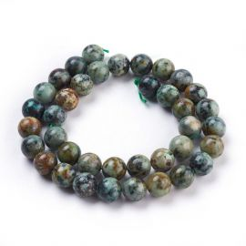 Natural African Turquoise Beads 10.5 mm., 1 strand