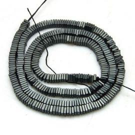 Гематит синтетический 3х1 мм. ~ 50 шт., 1 пакет