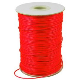 Vaškuota poliesterio virvutė 0.80 mm., 1 metras rakndarbiams raudonos spalvos