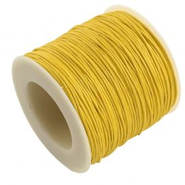Waxed cotton cord 1.00 mm., 1 meter for key yellow