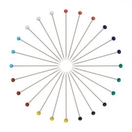 Smeigtukai - adatėlės su akriliniu burbuliuku 37 mm. ~250 vnt., 1 dėžutė