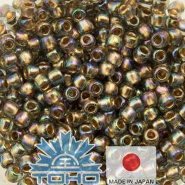 TOHO® Besier Gold-Lined Rainbow Black Diamond 11/0 (2.2 mm) 10 g.