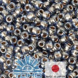 TOHO® Seed Beads Gold-Lined Lt Montana Blue 11/0 (2.2 mm) 10 g.