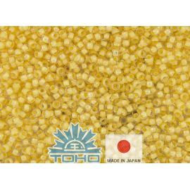 TOHO® Seed Beads Inside-Color Crystal/Butter-Lined 11/0 (2.2 mm) 10 g.