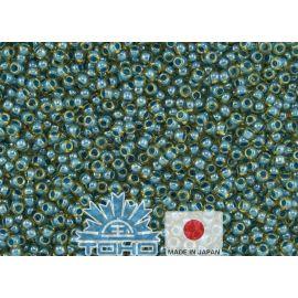 TOHO® sēklu pērles iekšpusē ar krāsu Jonquil / tirkīza oderējumu 11/0 (2,2 mm) 10 g.