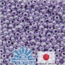 TOHO® Biseris Ceylon Gladiola 11/0 (2,2 mm) 10 g., 1 maišelis rakndarbiams šviesios violetinės spalvos