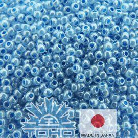 TOHO® Biseris Ceylon Denim Blue 11/0 (2,2 mm) 10 g., 1 maišelis rakndarbiams šviesiai mėlynos spalvos