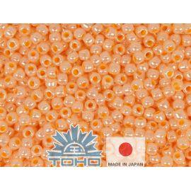 TOHO® Biseris Ceylon Apricot 11/0 (2,2 mm) 10 g., 1 maišelis rakndarbiams šviesios persiko (smėlio) spalvos