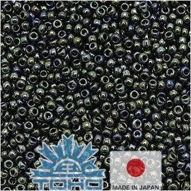 TOHO® Seed Beads Metallic Moss 11/0 (2.2 mm) 10 g., 1 bag for keys gray-green-blue