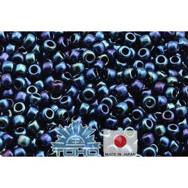 TOHO® Biseris Metallic Cosmos 11/0 (2,2 mm) 10 g., 1 maišelis rakndarbiams metalizuoti tamsiai mėlynos-violetinės-aukso spalvos