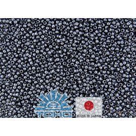 TOHO® Biseris Metallic Hematite 11/0 (2,2 mm) 10 g., 1 maišelis rakndarbiams tamsiai pilkos (hematito) spalvos