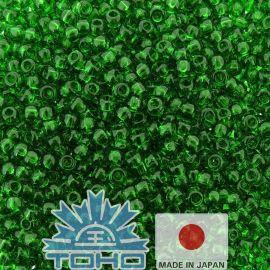 TOHO® Biseris Transparent Grass Green 11/0 (2,2 mm) 10 g.