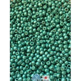 Бисер TOHO® Seed Beads Galvanized-Matte Lt Teal 11/0 (2.2 мм) 10 г, 1 пакетик для ключей зеленоватый