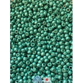 TOHO® Biseris Galvanized-Matte Lt Teal 11/0 (2,2 mm) 10 g.