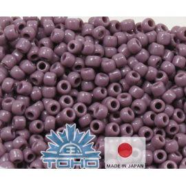 TOHO® Biseris Opaque Lavender 11/0 (2,2 mm) 10 g., 1 maišelis rakndarbiams rudai violetinės spalvos