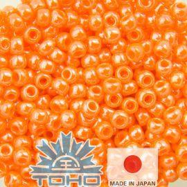 TOHO® Biseris Orange 11/0 (2,2 mm) 10 g., 1 maišelis rakndarbiams oranžinės spalvos