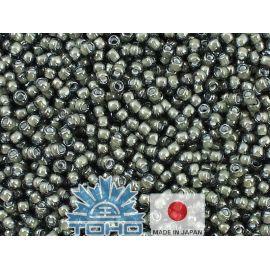 TOHO® Seed Beads Inside-Color Black Diamond/White-Lined 11/0 (2.2 mm) 10 g., 1 bag for key black