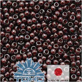TOHO® Seed Beads Inside-Color Montana Blue/Oxblood-Lined 11/0 (2.2 mm) 10 g.