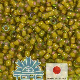 TOHO® seemnehelmed värvilised Jonquil / Apricot vooderdatud 11/0 (2,2 mm) 10 g.